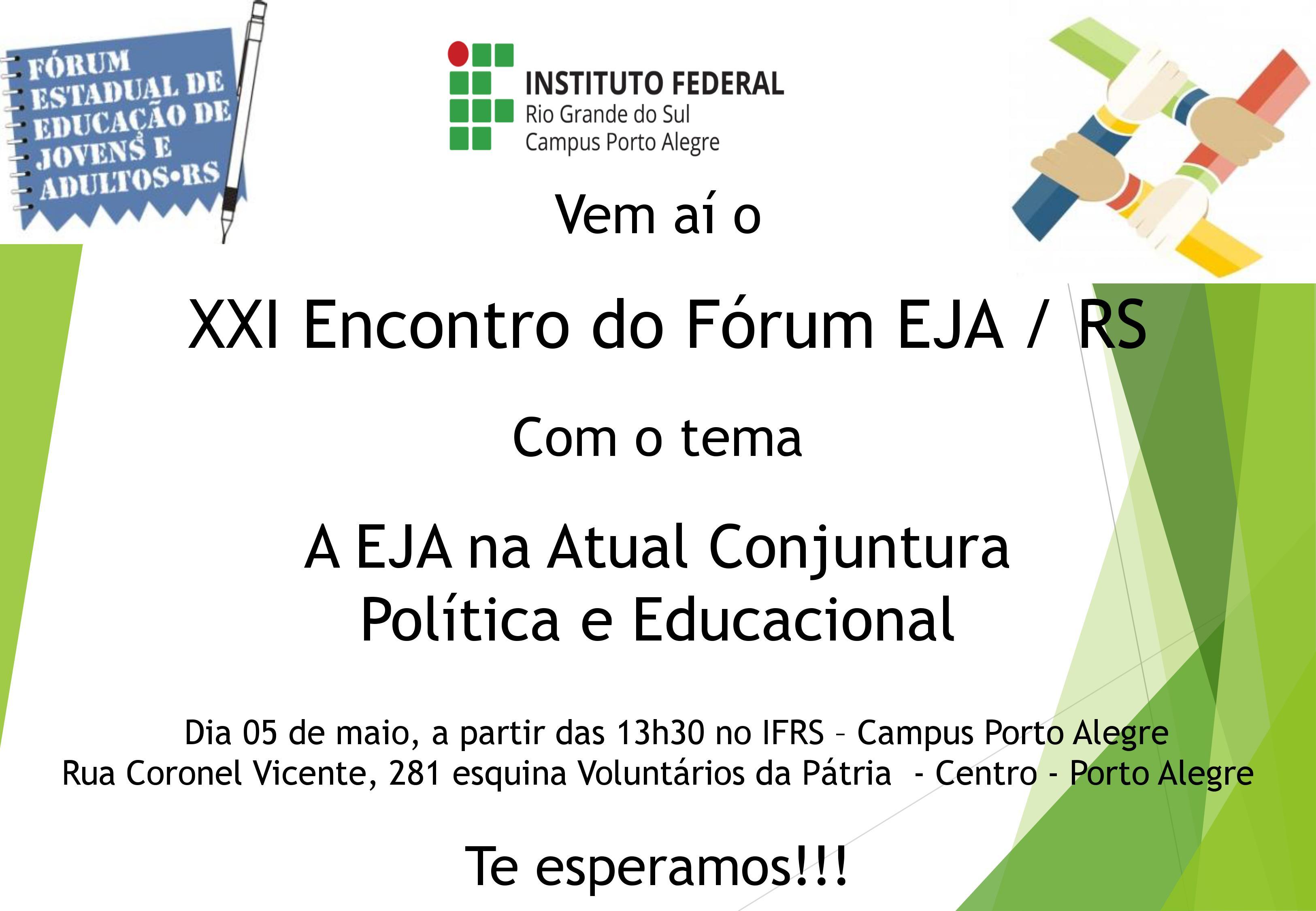 convite fórum EJA-RS